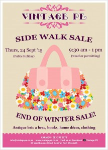 Side Walk Sale Ad - September 2015 (e-mail)